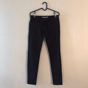 Abercrombie & Fitch dark brown skinny jeans